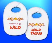 Design Works Counted Cross Stitch Kit Born to be Wild Bibs
