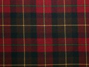 Poly Viscose Tartan Suiting Dress Fabric  Dark Red