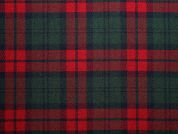 Poly Viscose Tartan Suiting Dress Fabric  Red & Green