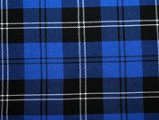Poly Viscose Tartan Suiting Dress Fabric  Royal Blue