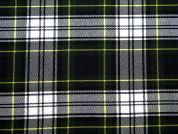Poly Viscose Tartan Suiting Dress Fabric  Green