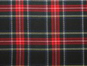 Poly Viscose Tartan Suiting Dress Fabric  Multicoloured
