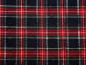 Poly Viscose Tartan Suiting Dress Fabric  Red Navy Green