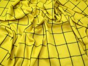 Check Suiting Fabric  Mustard