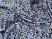 TartanTay Plaid Check Polyester Tartan Suiting Dress Fabric  Blue