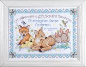 Tobin Baby Counted Cross Stitch Kit Woodland Baby Sampler