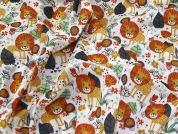 Printed Polycotton Fabric  Multicoloured