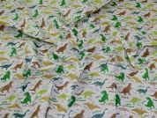Printed Polycotton Fabric  Green