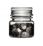 Tilda Round Patterned Sequins in a Jar  Antique Silver