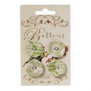 Tilda Apple Bloom Flower Fabric Covered Buttons