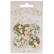 Tilda Pardon My Garden Fabric Covered Buttons