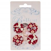 Tilda Candy Bloom Fabric Covered Buttons