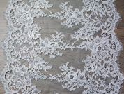 37cm Teresa Extra Wide Guipure Couture Bridal Lace Trimming  Ivory