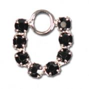 Impex Rhinestone Metal Horseshoe Shape Charms  Jet