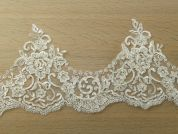 18cm Beaded Lace Trim  Ivory