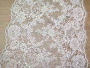 31cm Extra Wide Guipure Couture Bridal Lace Trimming  Ivory