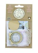 DMC Mini Wooden Embroidery Hoop with Kitten Ears & Chain