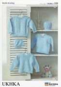 UKHKA Baby Sweaters & Hat Knitting Pattern No 108  DK