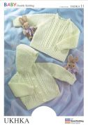 UKHKA Baby Sweater & Jacket Knitting Pattern No 11  DK