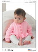 UKHKA Baby Cardigans & Sweater Knitting Pattern No 130  DK