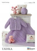 UKHKA Baby Cardigans, Hat & Blanket Knitting Pattern No 138  DK
