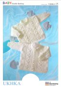UKHKA Baby Sweater & Jacket Knitting Pattern No 15  DK