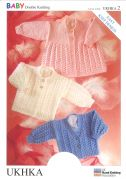 UKHKA Baby Cardigan & Matinee Coat Knitting Pattern No 2  DK