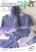 UKHKA Baby Jackets & Sweaters Knitting Pattern No 42  DK