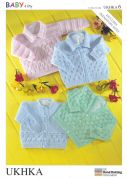 UKHKA Baby Cardigans & Sweaters Knitting Pattern No 6  4 Ply