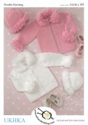 UKHKA Baby Cardigans, Hat & Bonnet Knitting Pattern No 60  DK