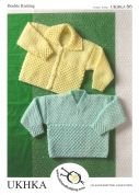 UKHKA Baby Cardigan & Sweater Knitting Pattern No 66  DK