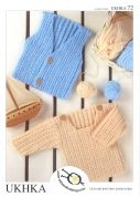 UKHKA Baby Cardigan & Sweater Knitting Pattern No 72  DK