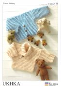 UKHKA Baby Sweater & Cardigan Knitting Pattern No 76  DK