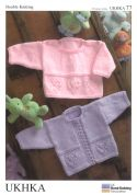 UKHKA Baby Sweater & Cardigan Knitting Pattern No 77  DK