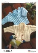 UKHKA Baby Sweater & Cardigan Knitting Pattern No 80  DK