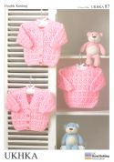 UKHKA Baby Cardigans & Sweater Knitting Pattern No 87  DK
