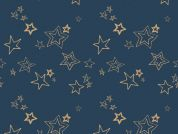 Art Gallery Fabrics Midnight Roof Metallic Cotton Voile Dress Fabric