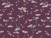 Art Gallery Fabrics He Loves Me Plum Cotton Lawn Dress Fabric