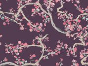 Art Gallery Fabrics Enchanted Leaves Plum Cotton Voile Dress Fabric