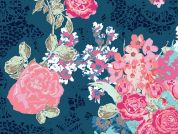 Art Gallery Fabrics Nisi Flora Oceanon Cotton Lawn Dress Fabric