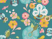 Art Gallery Fabrics Floral Floats Fresh Cotton Lawn Dress Fabric
