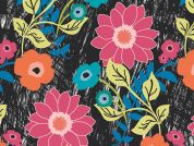 Art Gallery Fabrics Floral Asphalt Cotton Voile Dress Fabric