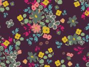 Art Gallery Fabrics Blooming Soul Plum Cotton Lawn Dress Fabric