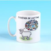 Vanessa Bee Id Rather be Knitting Knitters Mug