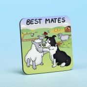 Vanessa Bee Best Mates Coaster