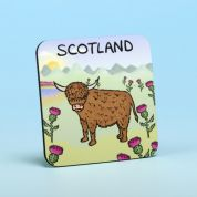 Vanessa Bee Highland Cows Coaster