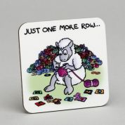 Vanessa Bee Just One More Row Knitters Coaster
