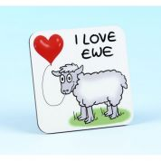 Vanessa Bee I Love Ewe Coaster
