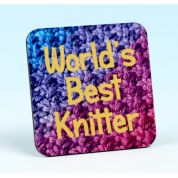 Vanessa Bee Worlds Best Knitter Knitters Coaster