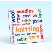 Vanessa Bee Knitting Words Knitters Coaster